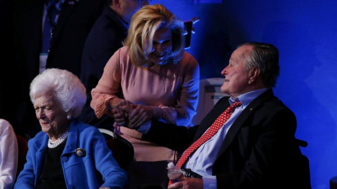 Heidi Cruz and George Bush Sr.